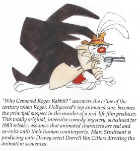 1981 Walt Disney Productions annual report - page 26 announcement of Roger Rabbit film