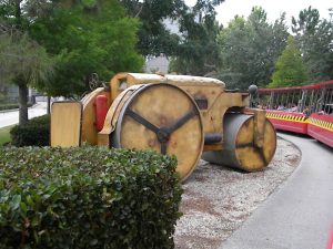 Acme steamroller on tram tour