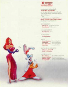 Amblin congratulation advertisement for WFRR Oscar winners