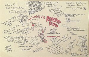 Roger Rabbit crew reunion memory card