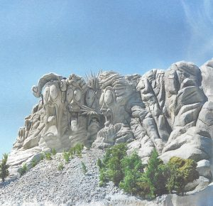 Trail Mix-Up - Mt. Rushmore sculpture