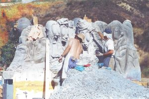 Trail Mix-Up - sculpting Mt. Rushmore