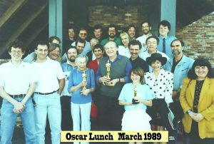 post-Oscar lunch at Chadney's - March 30, 1989