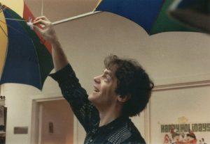 5th floor - Nick Fletcher adjusting umbrella light shades