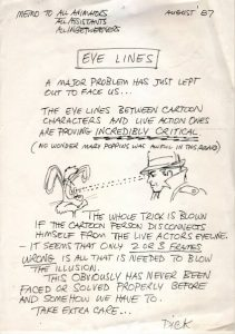 Eyeline notes from Richard Williams