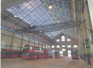 London Transport bus depot, 2015