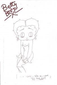 Betty Boop nipple-slip drawing