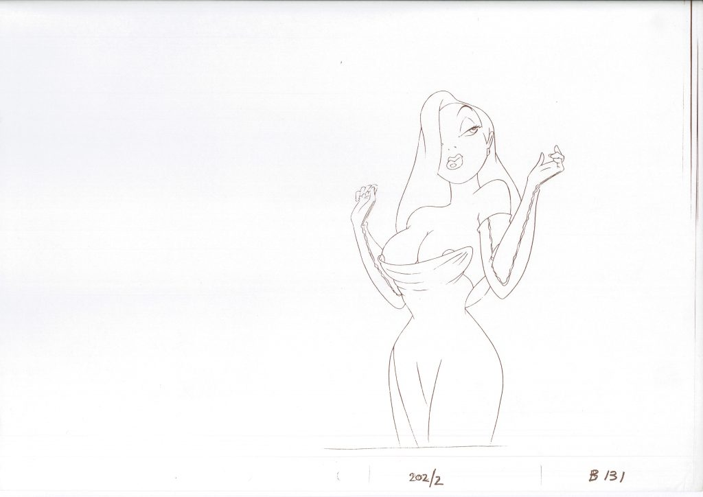 Jessica Rabbit - booby-trap deleted drawing