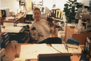 Nicola Jane Moylan, receptionist - 1988