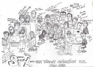 The Forum SFX crew - drawing by Lily Dell