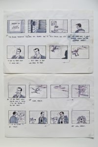 storyboard from Disney development period - 1