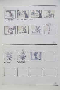storyboard from Disney development period - 4