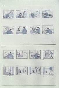 storyboard from Disney development period - 5