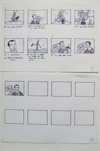 storyboard from Disney development period - 7